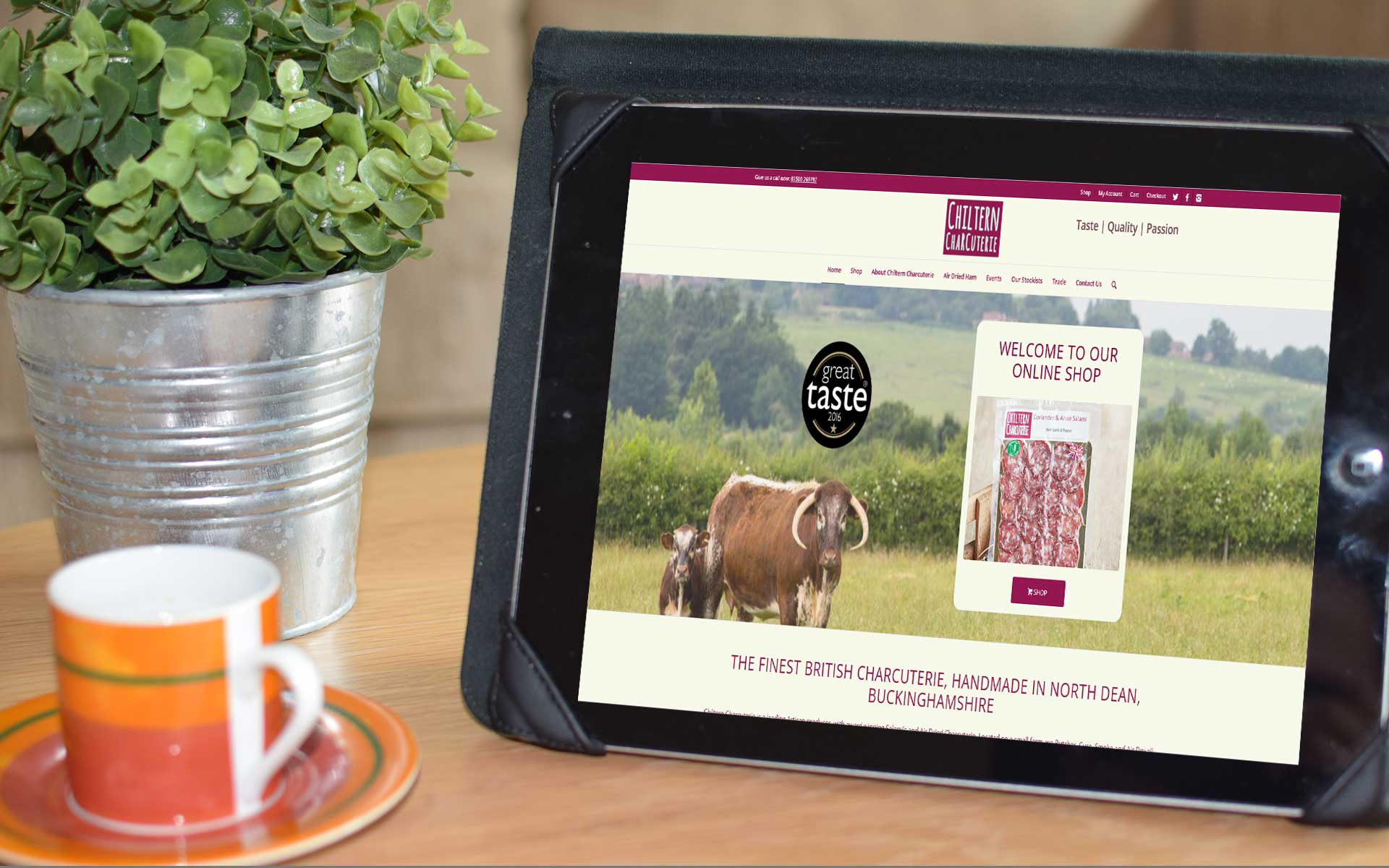 Charcuterie ecommerce website design, High Wycombe Buckinghamshire