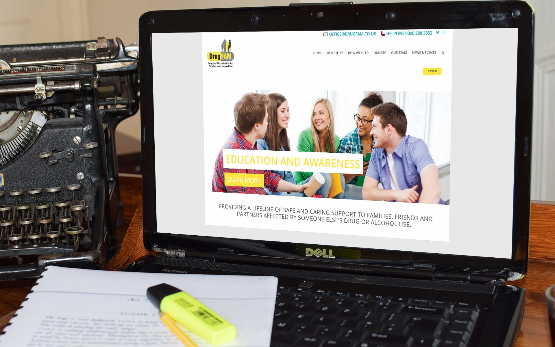 Charity website design, High Wycombe Buckinghamshire
